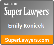 Emily Konicek Orlando Family Law Attorney Super Lawyers Badge
