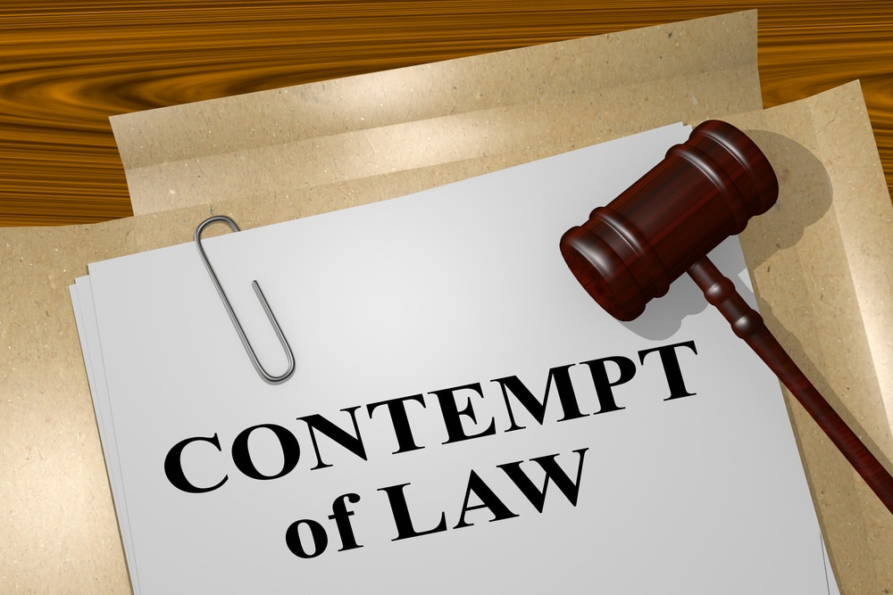 contempt of law in family court
